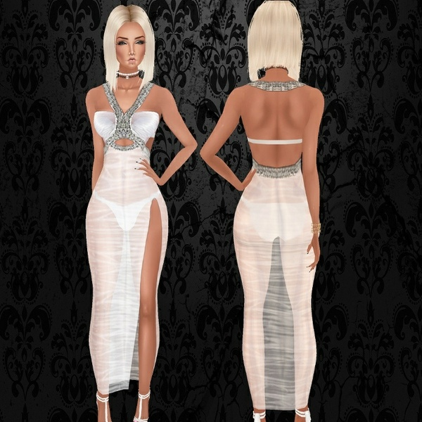 White Wet Cindy Gown - Exclusive Files / PNG.