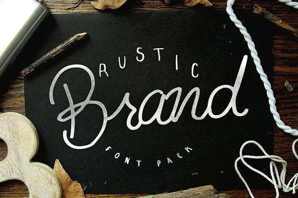 Rustic Brand - 5 Font Pack