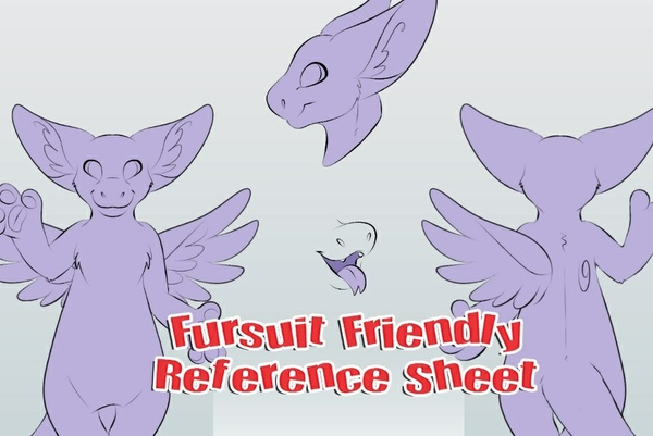 Fursuit Friendly Angel Dragon Ref Sheet