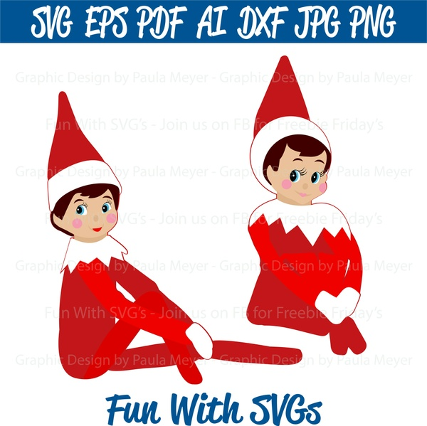 Christmas Elf - SVG Cut File, High Resolution Printable Graphics and Editable Vector Art