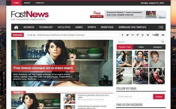 Fast News Blogger Template Premium Version