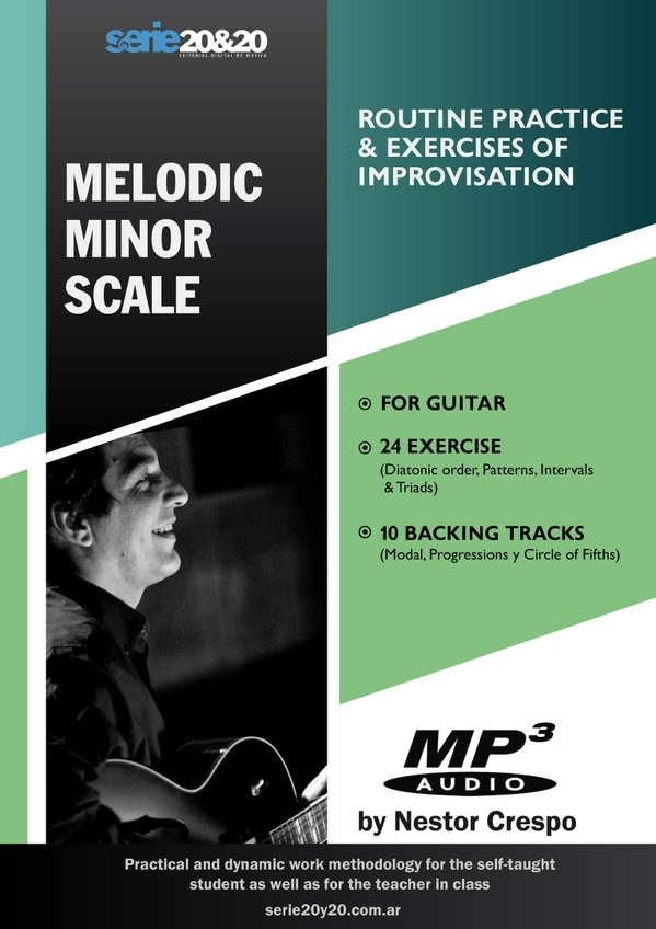 GUITAR / Melodic Minor Scale  (Practice Routine & Improvisation)