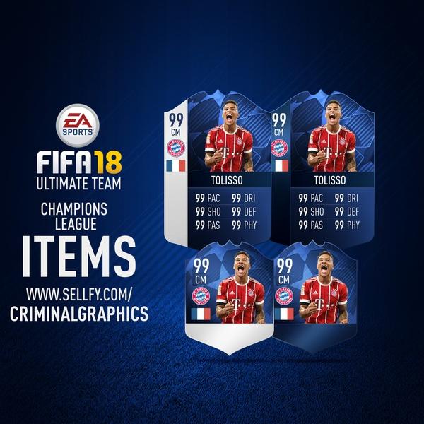 FIFA 18 CHAMPIONS LEAGUE ITEMS