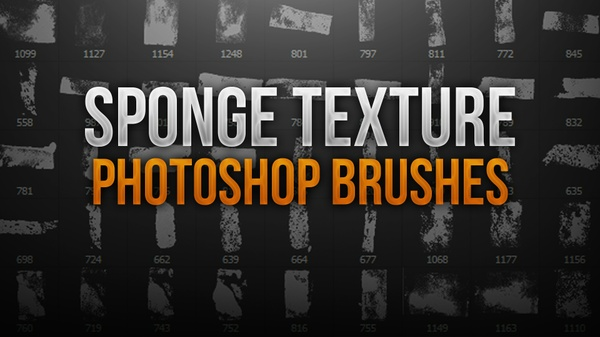 Sponge Texture Photoshop Brush Pack