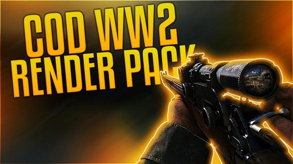 CoD WW2 Weapon Render Pack