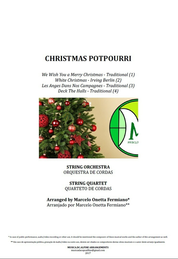 Christmas Potpourri | String Orchestra or String Quartet | Score and Parts