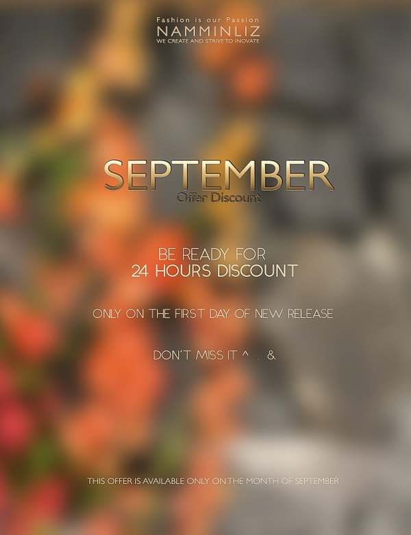 Shop Our 24 Hours Discount this September at our shop NAMMINLIZ imvu