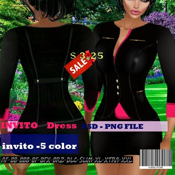 INVITO DRESS TEXTURE  HD
