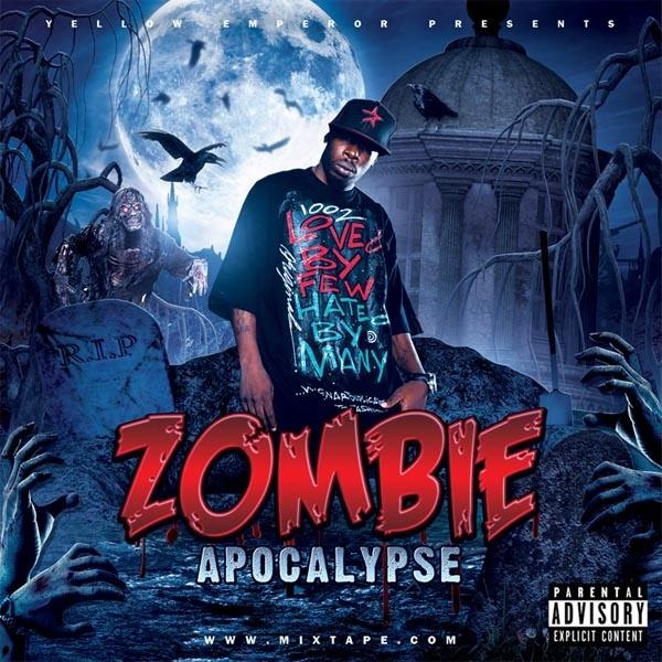 Zombie Mixtape Cover Template PSD