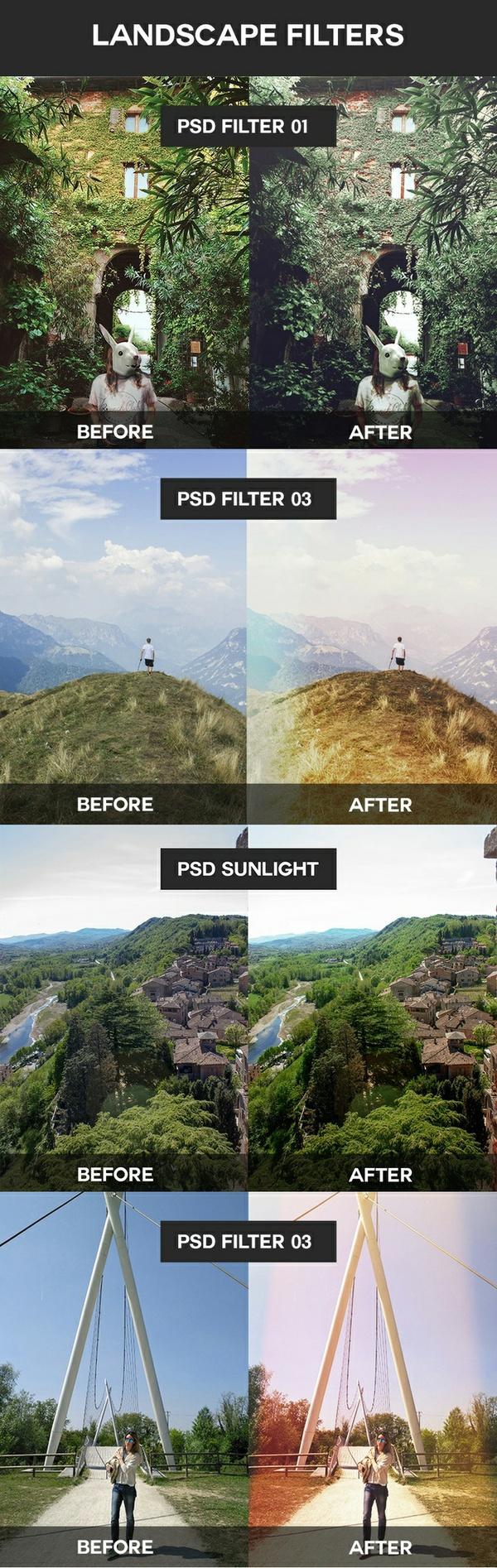 Landscape Filters PSD Coloring Sunlight