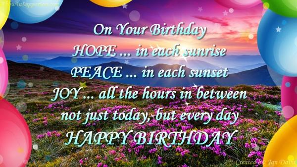 Beautiful Sunrise happy birthday wishes video greeting
