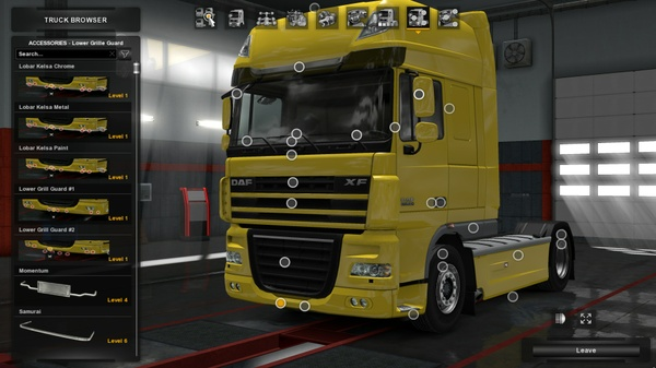 Lower Grill Guard Daf XF 105 By SCS
