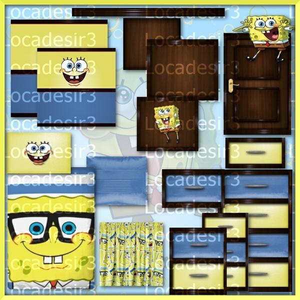 sponge bob bedroom textures