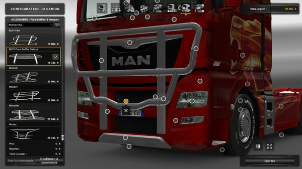 PACK pare buffle man TGX E6-E5 (Madster/scs)