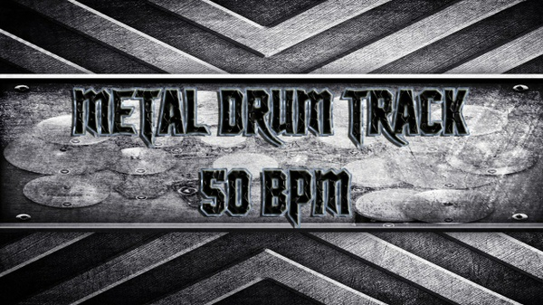 Metal Drum Track 50 BPM