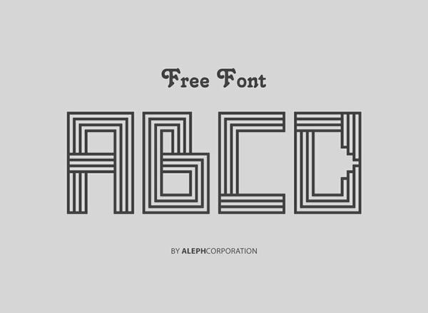 "|| LINE ART FONT || ""FREE FONT / FREE LICENSE"""