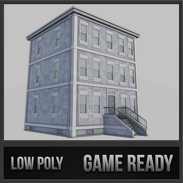 Boston Building 02 | 3D Low Poly Model