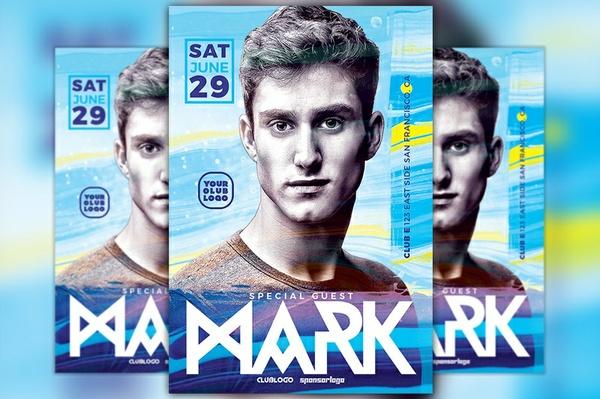 DJ Mark Club Party Flyer Template