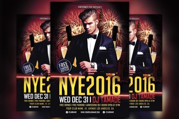 NYE 2016 Party Flyer Template