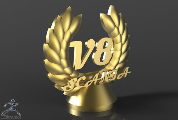 3D V8 Scania Decoration Model