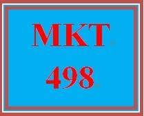 MKT 498 Week 4 Marketing Communications