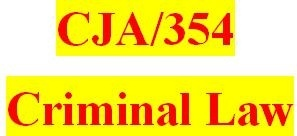 CJA/354 Entire Course