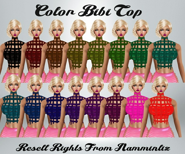 Color Bibi Tops Catty Only!!!