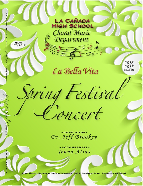 March 10, 2017 Spring Festival Concert