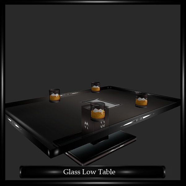 GLASS LOW TABLE