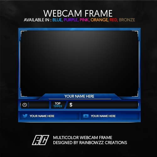 Multicolor Webcam Frame