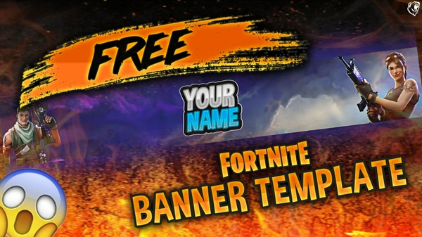 FREE FORTNITE BANNER TEMPLATE