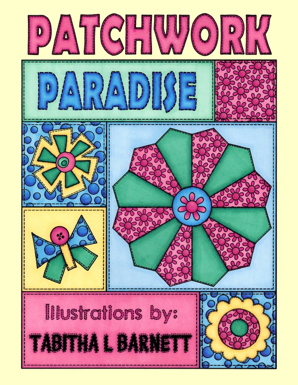 Patchwork Paradise Adult Coloring Book PDF