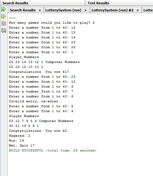 Instant Lottery System in Java | Java Assignment | Java Homework