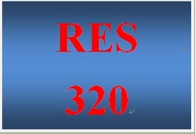 RES 320 Week 4 Scaling Study
