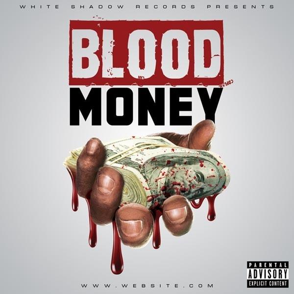 Blood Money Mixtape Cover Template PSD