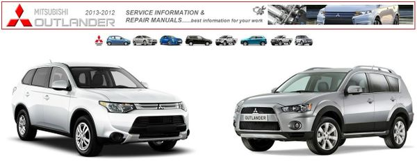 MITSUBISHI OUTLANDER 2012 & 2013 WORKSHOP MANUALS.