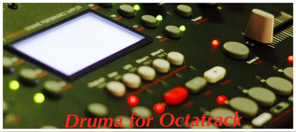 Druma for Octatrack 284 analog 16 bit 44.1khz drum samples