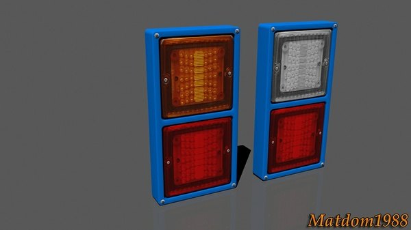 Rear light square truck and trailer