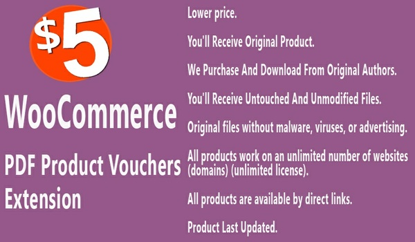 WooCommerce PDF Product Vouchers Extension