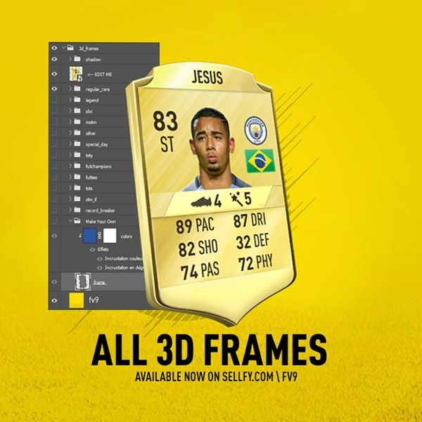Fifa 18 & 17 ALL 3D FRAMES