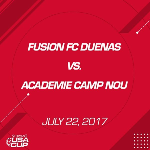 Girls U16 Gold Final - July 22, 2017 - Fusion SC Duenas vs Academie Camp Nou