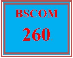 BSCOM 260 Week 1 Technical Communication Review