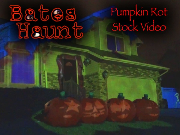 Pumpkin Rot! Singing Pumpkins BatesHaunt HD Stock Video
