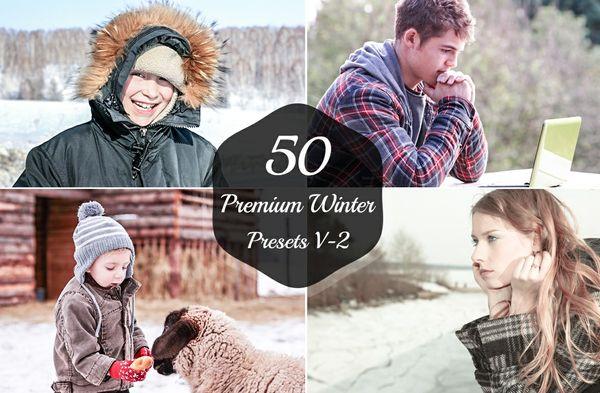 50 Premium Winter Lightroom Presets V-2