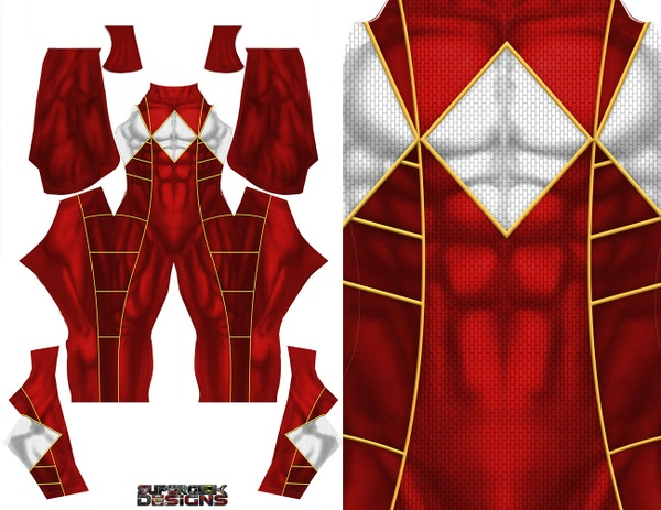 RED RANGER (Bat in the Sun)  pattern file