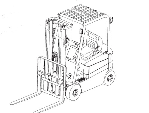 Mitsubishi FB20K FB25K FB30K FB35K Forklift Trucks Service Repair Manual Download