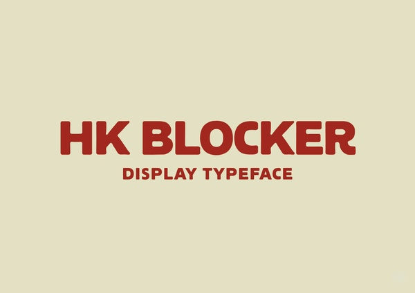 HK Blocker™ Typeface