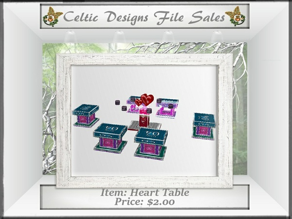 CD Heart Table