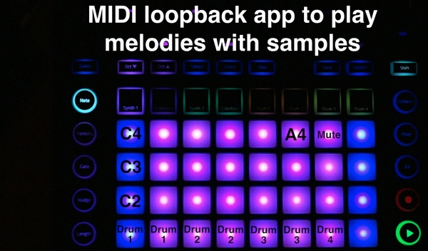 Lemur App for playing Melodies with Samples on the Novation Circuit