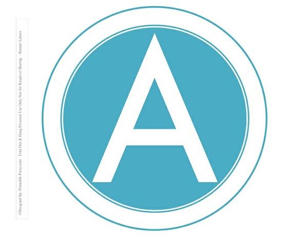 8-INCH-WHITE-DARK-AQUA-CIRCLE-PRINTABLE-BANNER-LETTERS-A-Z-0-9